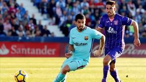 Suárez frente al Leganés en Butarque