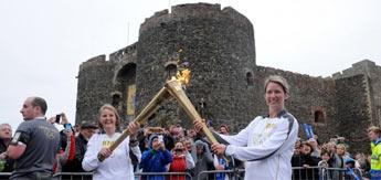 La antorcha olímpica, en Irlanda del Norte