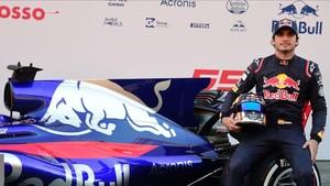 Carlos Sainz, en la presentación de su nuevo monoplaza