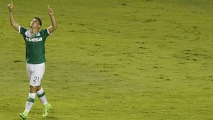 Nicolas Benedetti celebra el único gol