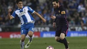 Leo Messi lideró el Barça en el derbi