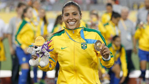 Fabiana es internacional con Brasil