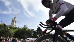 Contador, en la contrarreloj de Marsella