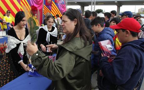 Éxito de la celebración de Sant Jordi en el Camp Nou