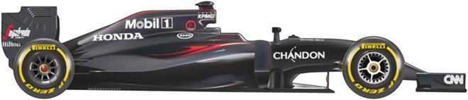 El coche de McLaren para el Mundial 2016 de F1