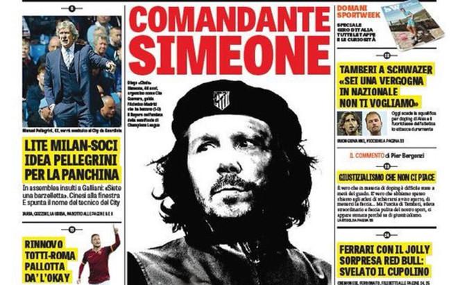 'Comandante Simeone', la portada de la Gazzetta