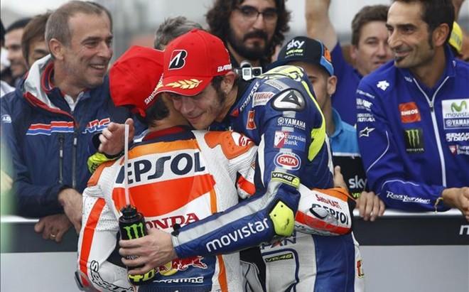 Dani Pedrosa y Valentino Rossi siempre han mantenido una relaci�n correcta