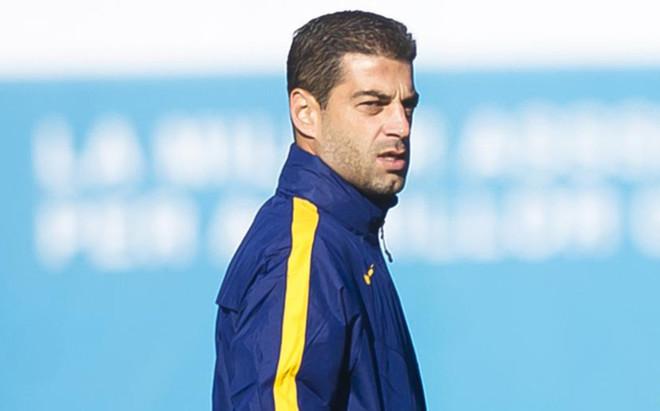 Gerard L�pez, entrenador del Bar�a B