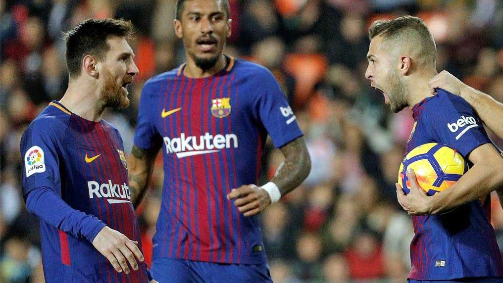 LALIGA | Valencia - FC Barcelona (1-1): La asistencia de Messi en el gol de Jordi Alba