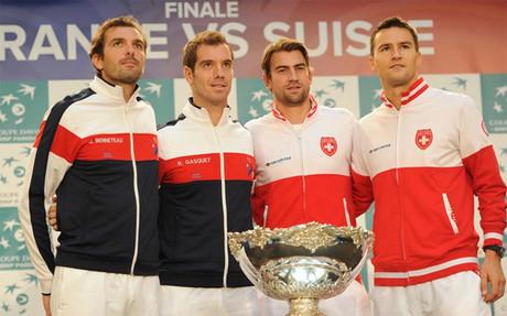 Suiza y Francia se juegan la Copa Davis