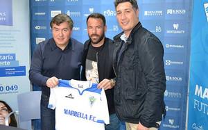 Apoño fue presentado con el Marbella