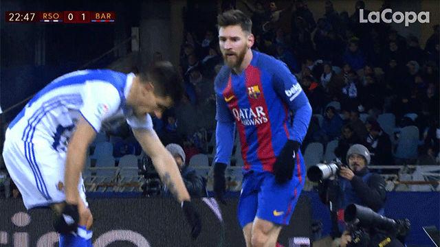 Video resumen: La acción de Yuri que enfadó a Messi en el Real Sociedad - FC Barcelona (0-1). Ida cuartos Copa del Rey 2016-17