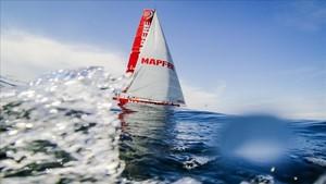La embarcación Mapfre durante una edición de la VOR
