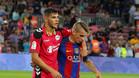 Theo y Digne, juntos tras el Barça-Alavés de la primera vuelta
