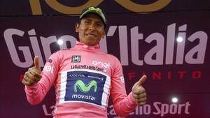 Quintana, con la maglia rosa tras la 19ª etapa. ¿La mantendrá el domingo?