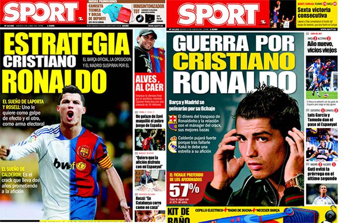 El día que Cristiano pudo ser del Barça