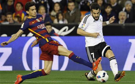 Negredo, jugador del Valencia
