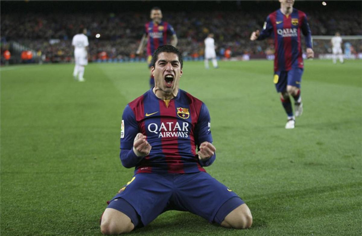 Se cumple un a�o del primer gol de Luis Su�rez en un Cl�sico