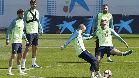 El último entrenamiento del Barça antes del derbi