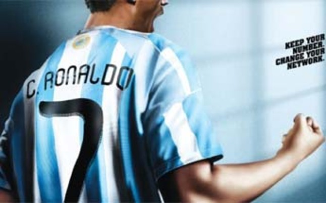 Cristiano Ronaldo se viste de argentino | Foto: UniverCell