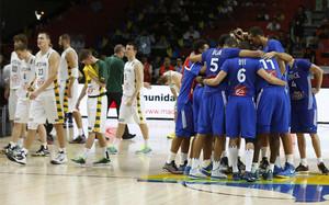 Los jugadores franceses celebran su triunfo
