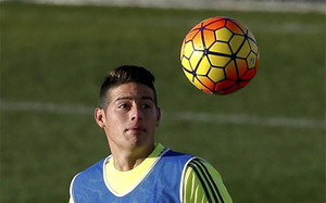 James Rodríguez, delantero del Real Madrid
