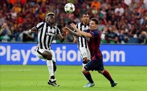 Pogba se midió al FC Barcelona en la final de la Champions League del año pasado
