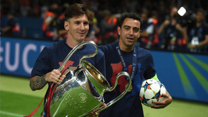 Messi y Xavi, en una imagen de archivo