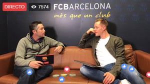 Marc-André Ter Stegen durante su comparecencia en Facebook Live en la cuenta del FC Barcelona