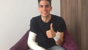 Marc Bartra, en la cama del hospital