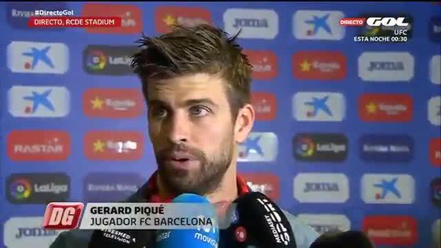 Piqué dio su opinión sobre los cánticos que hubo en el campo del Espanyol