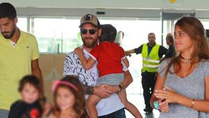 Messi y Luis Suárez ya están en Barcelona