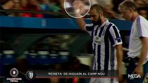 Higuaín dedicó un feo gesto a la afición del Barça