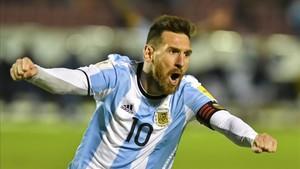 Messi es quien más goles ha celebrado en unas eliminatorias mundialistas