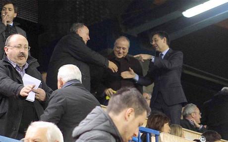 Bartomeu felicit� al Villarreal por su buena eliminatoria