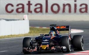 Carlos Sainz, en los test de Montmeló