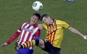 Cebolla Rodríguez en un partido de Copa contra el Sant Andreu