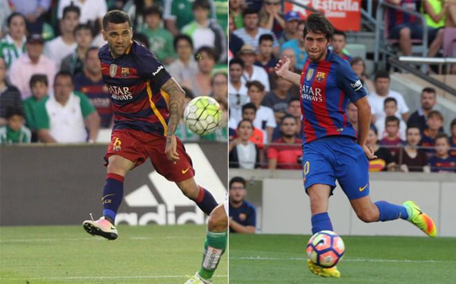 Dani Alves ha cedido el lateral derecho del Barcelona a Sergi Roberto