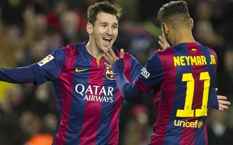 Messi y Neymar vieron reconocido su 2014 en el Bar�a y la selecci�n