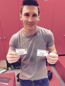 Messi y su hijo ya tienen los carnets de socio de la PB La Pulga de Castelldefels