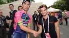 Pedrosa se vio con el ganador de la etapa, Diego Ulissi