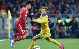 Yarmolenko y Nolito, ambos en la órbita del Barça, se vieron las caras en el Ucrania-España de este lunes