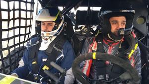 Lascorz y su copiloto, al Merzouga Rally
