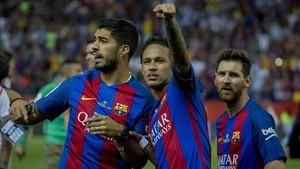 Neymar quiere seguir disfrutando junto a Suárez y Messi