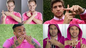 Durante los últimos años los jugadores del Barça han mostrado su apoyo en la lucha contra el cáncer de mama