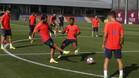El Bar�a entrena en la Ciutat Esportiva
