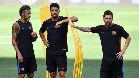 El Barça entrenó en el Red Bull Arena pendiente de Neymar