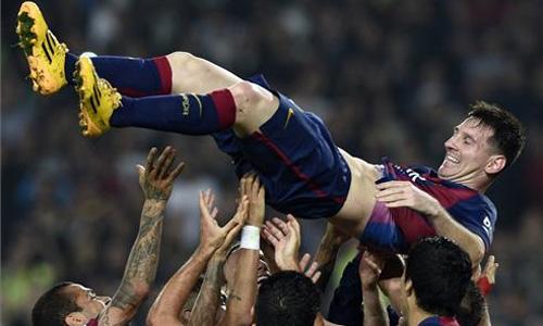 Messi supera el r�cord de Zarra