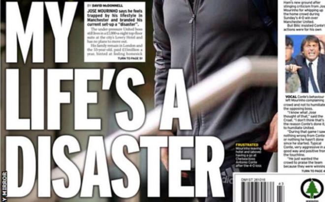 Mourinho se queja de su vida en Manchester