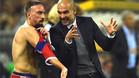 Rib�ry lanza un dardo a Guardiola